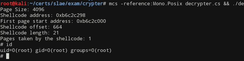 Running shellcode decrypter